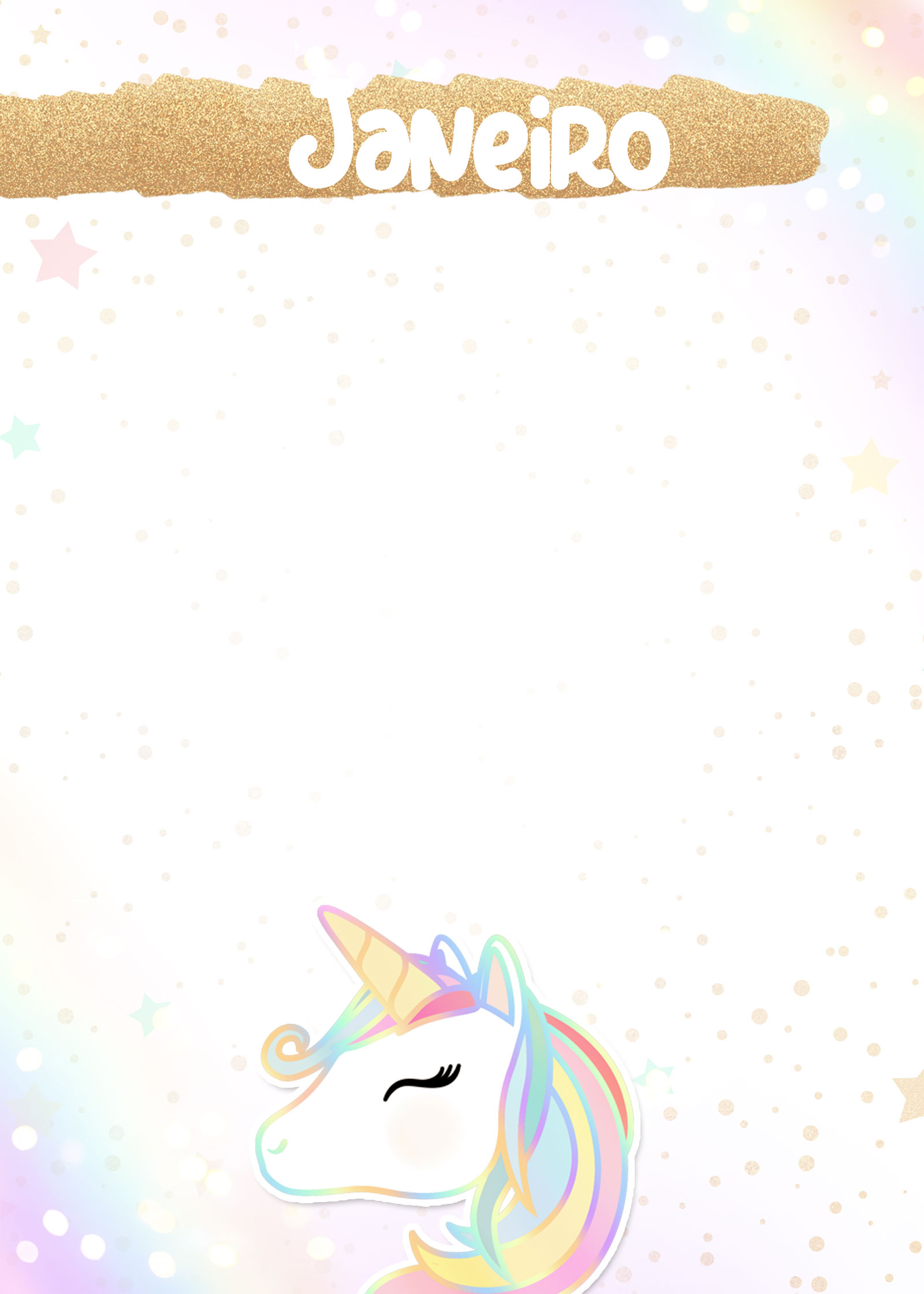 Planner Unicornio 2019 capa janeiro