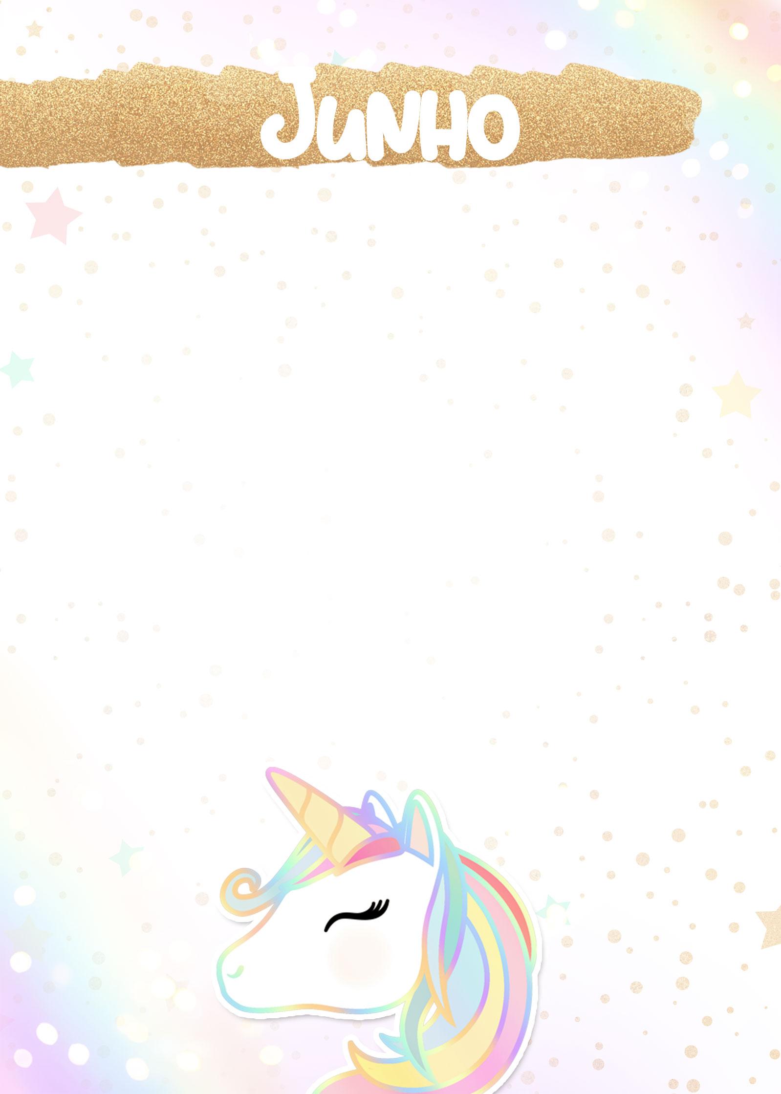 Planner Unicornio 2019 capa junho