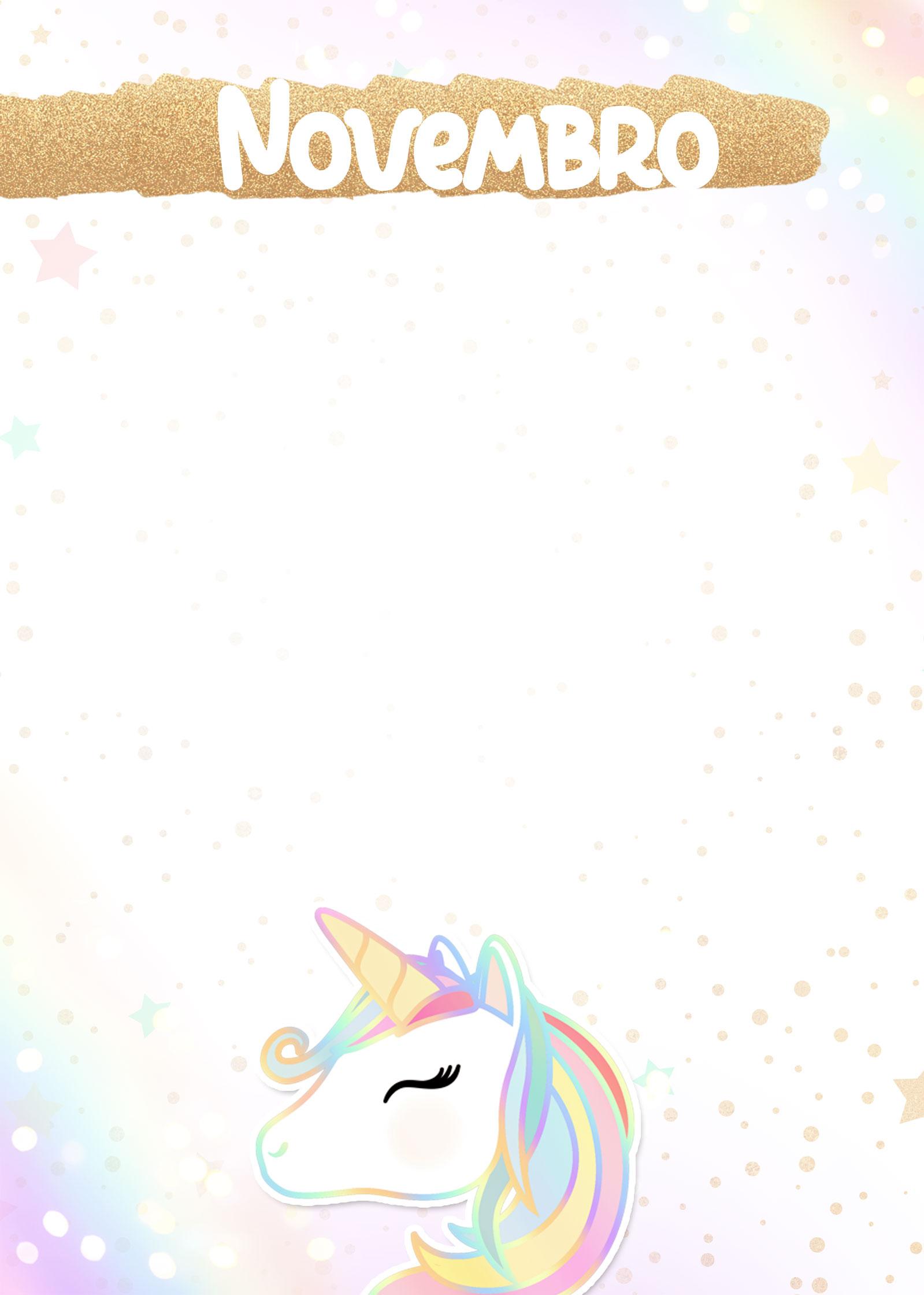 Planner Unicornio 2019 capa novembro