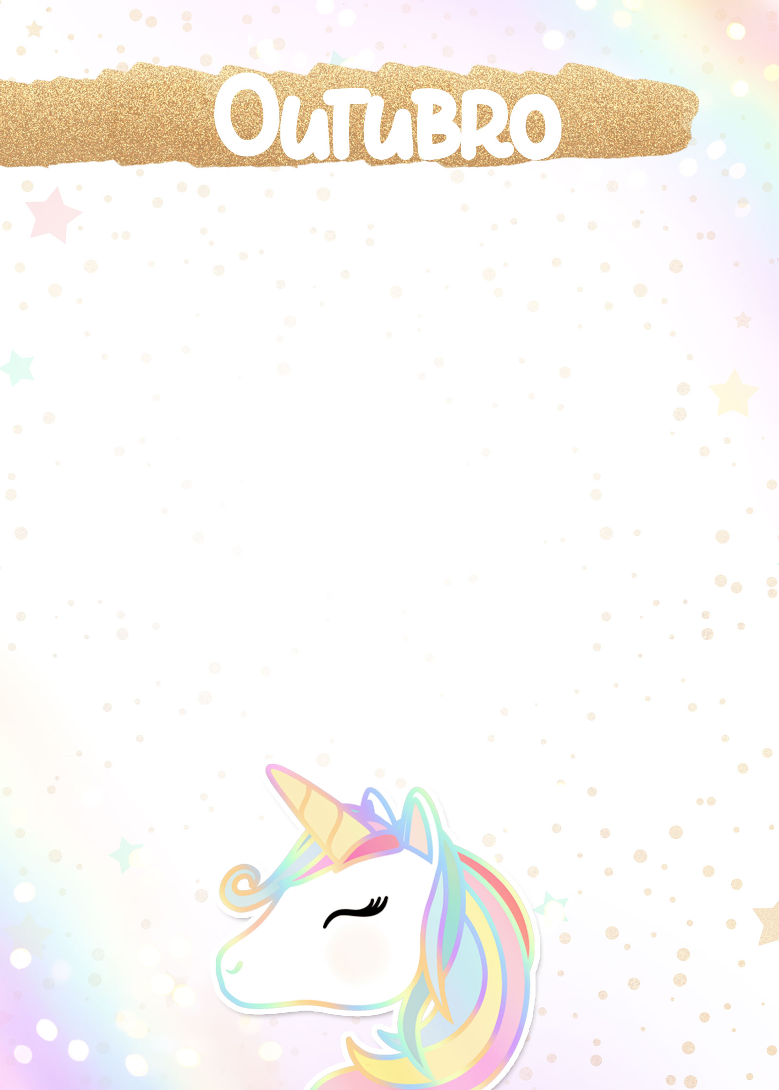 Planner Unicornio 2019 capa outubro