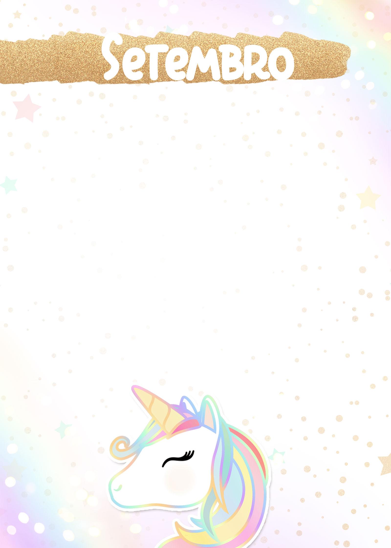 Planner Unicornio 2020 capa setembro