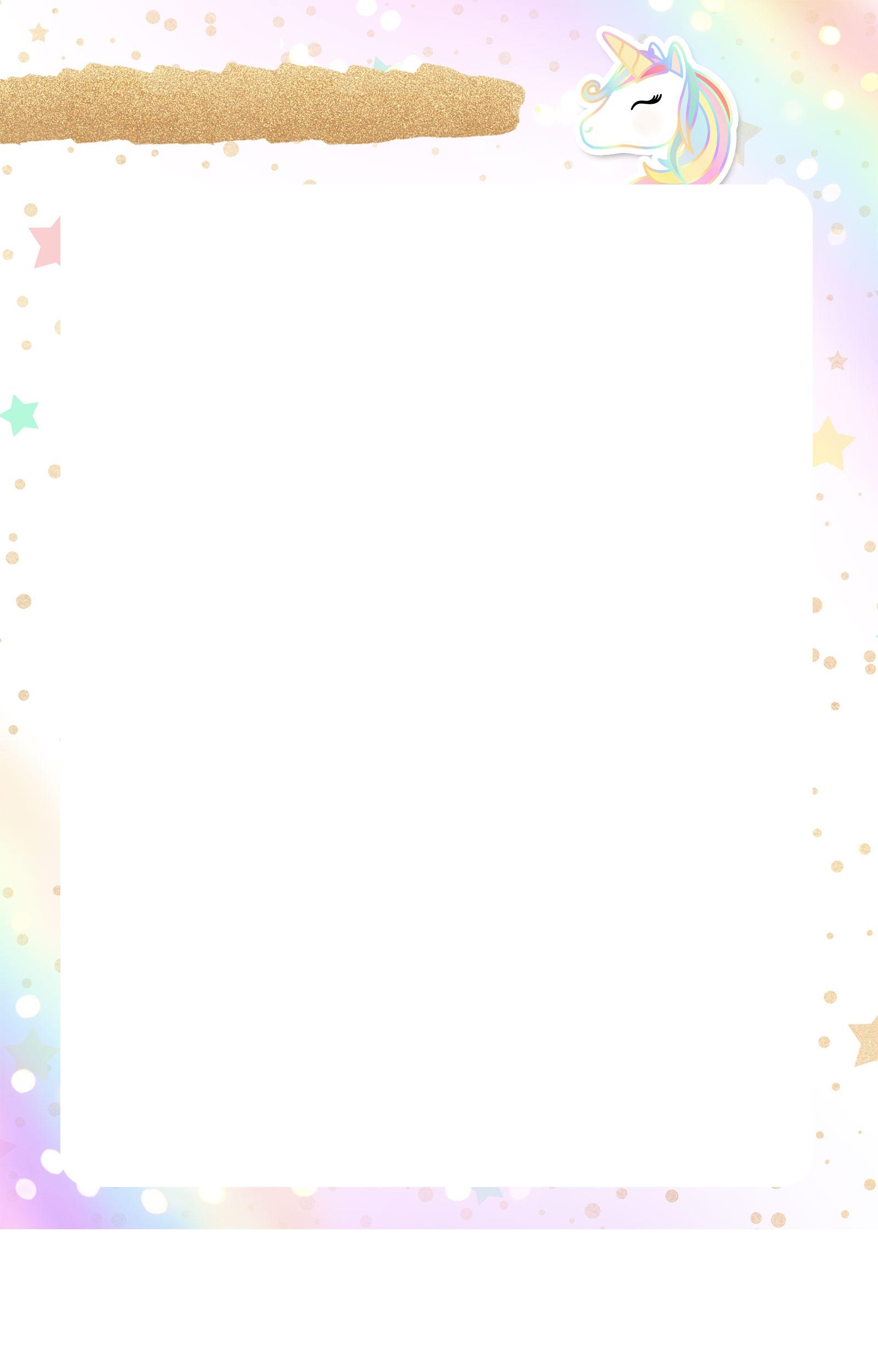 Planner Unicornio 2019 folha limpa