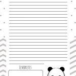 Planners 2019 Panda Menino Planner diario