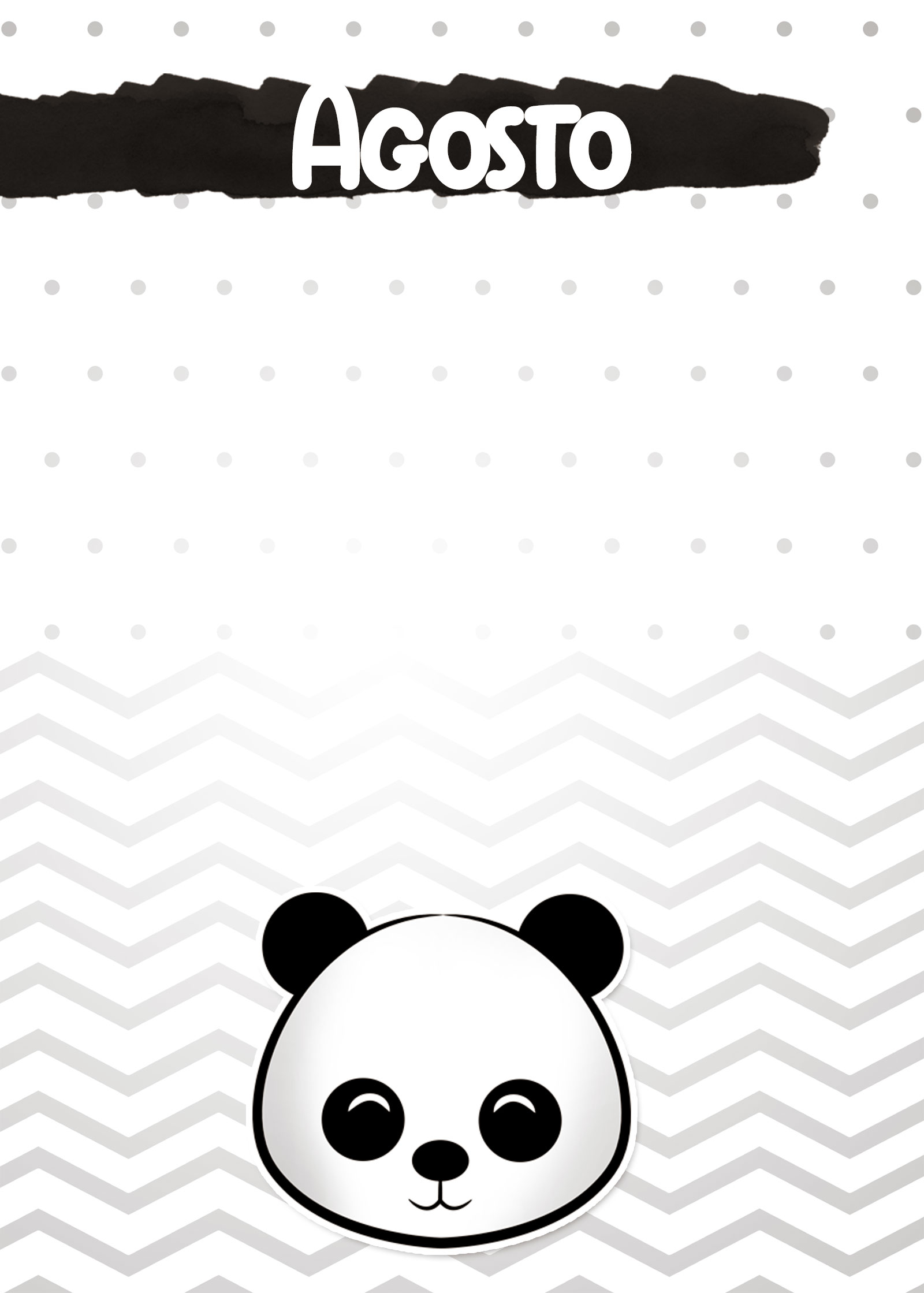 Planners 2019 Panda Menino agosto