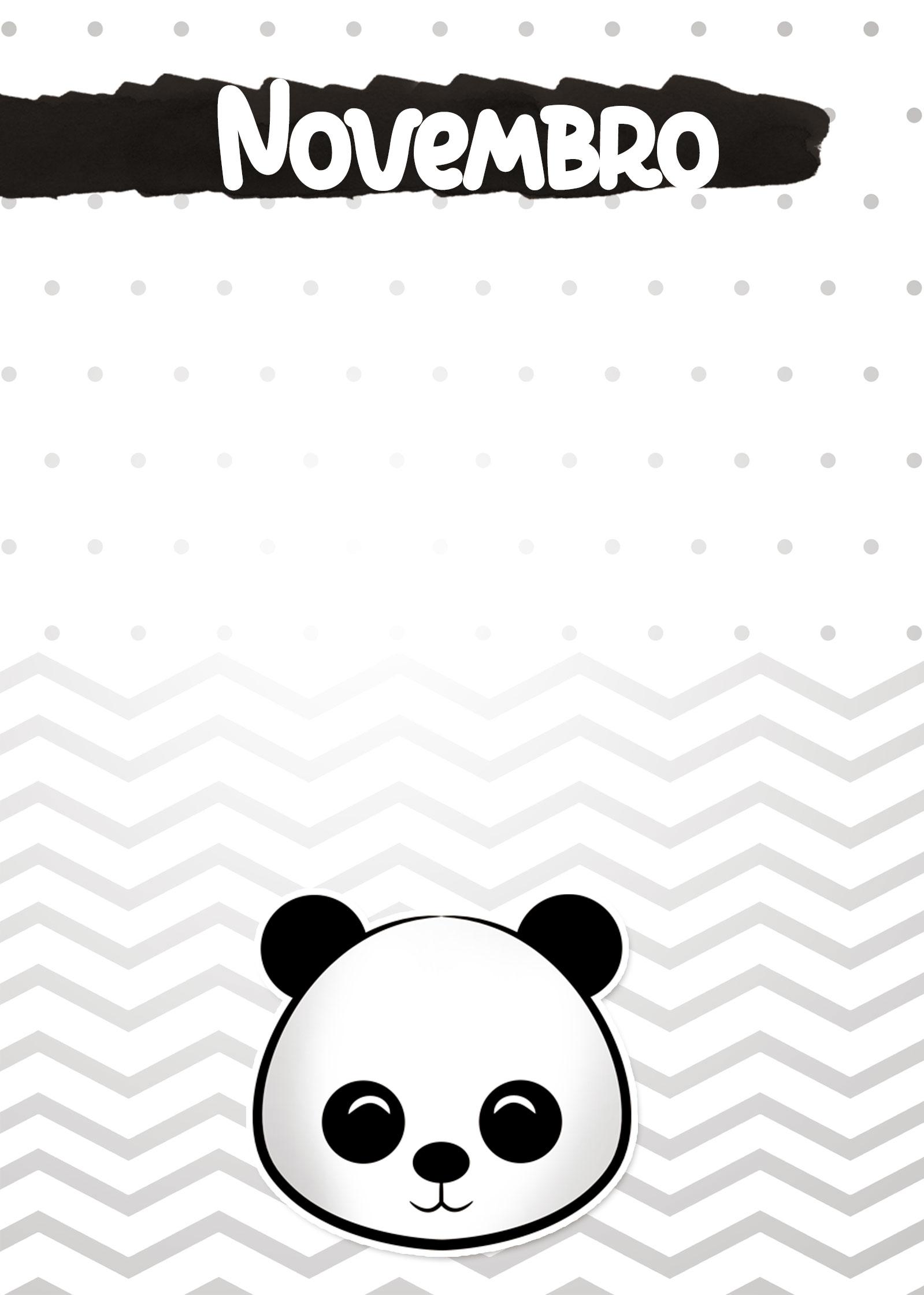Planners 2019 Panda Menino capa novembro