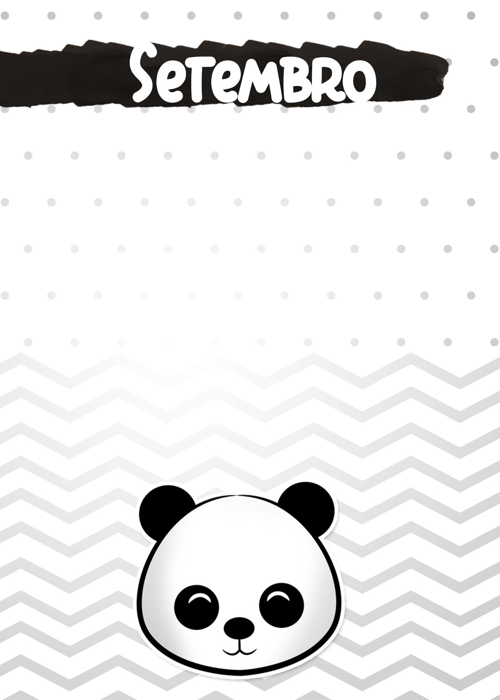 Planners 2019 Panda Menino capa setembro
