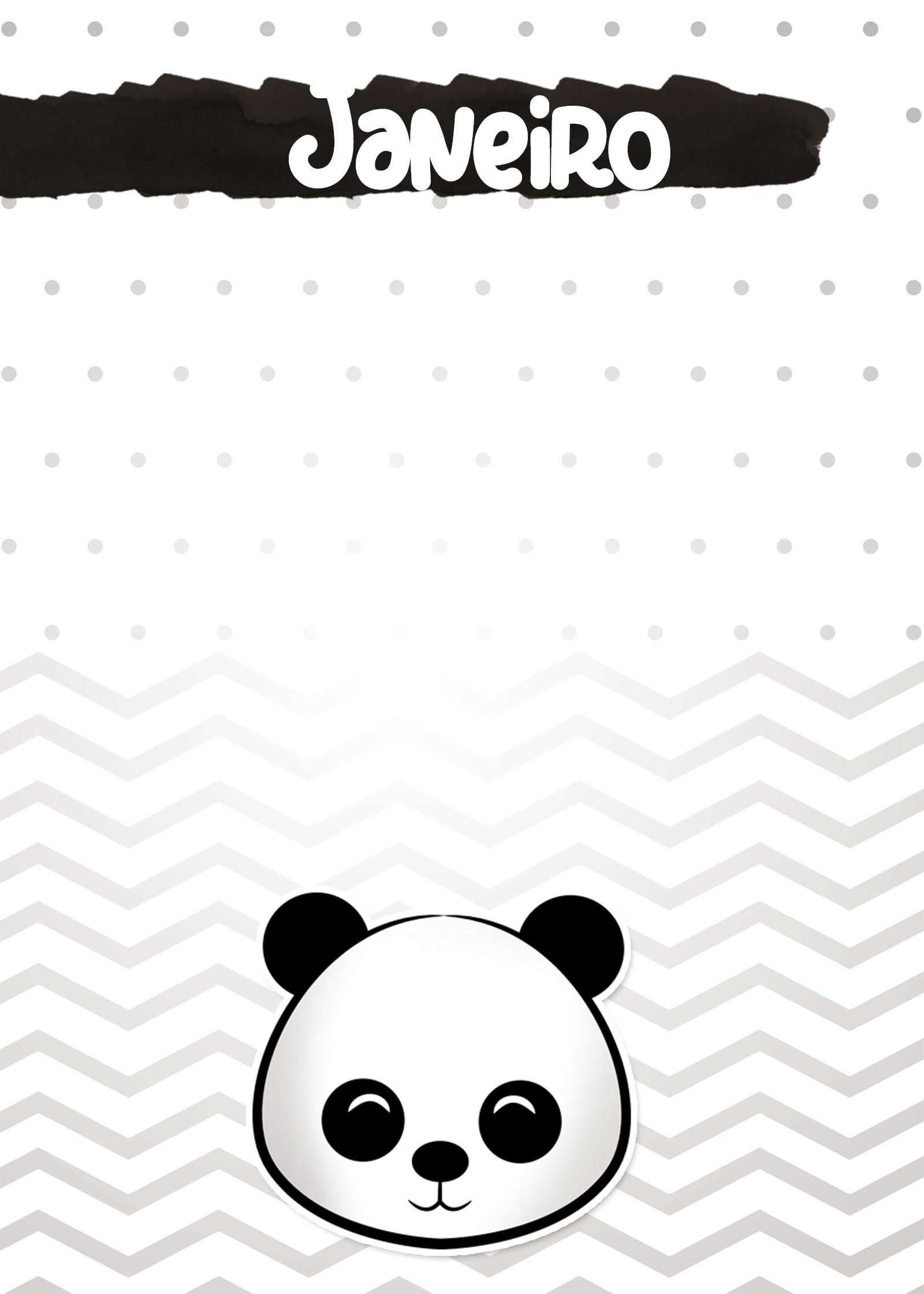 Planners 2019 Panda Menino janeiro