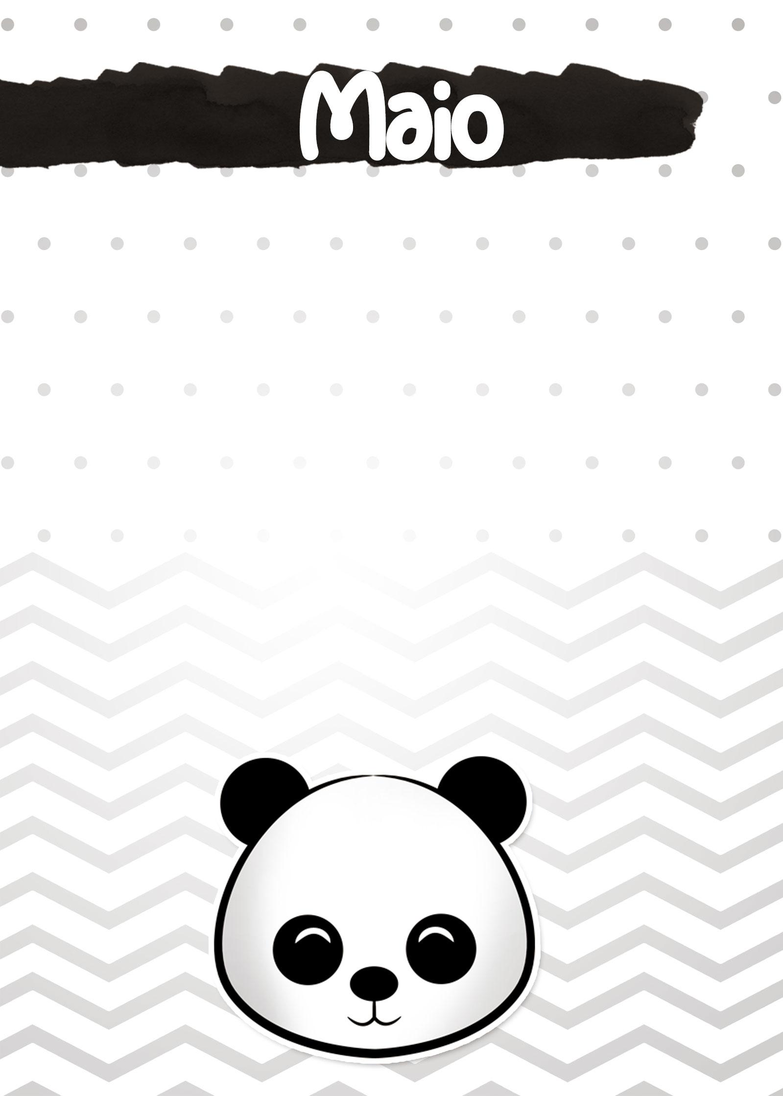 Planners 2019 Panda Menino maio