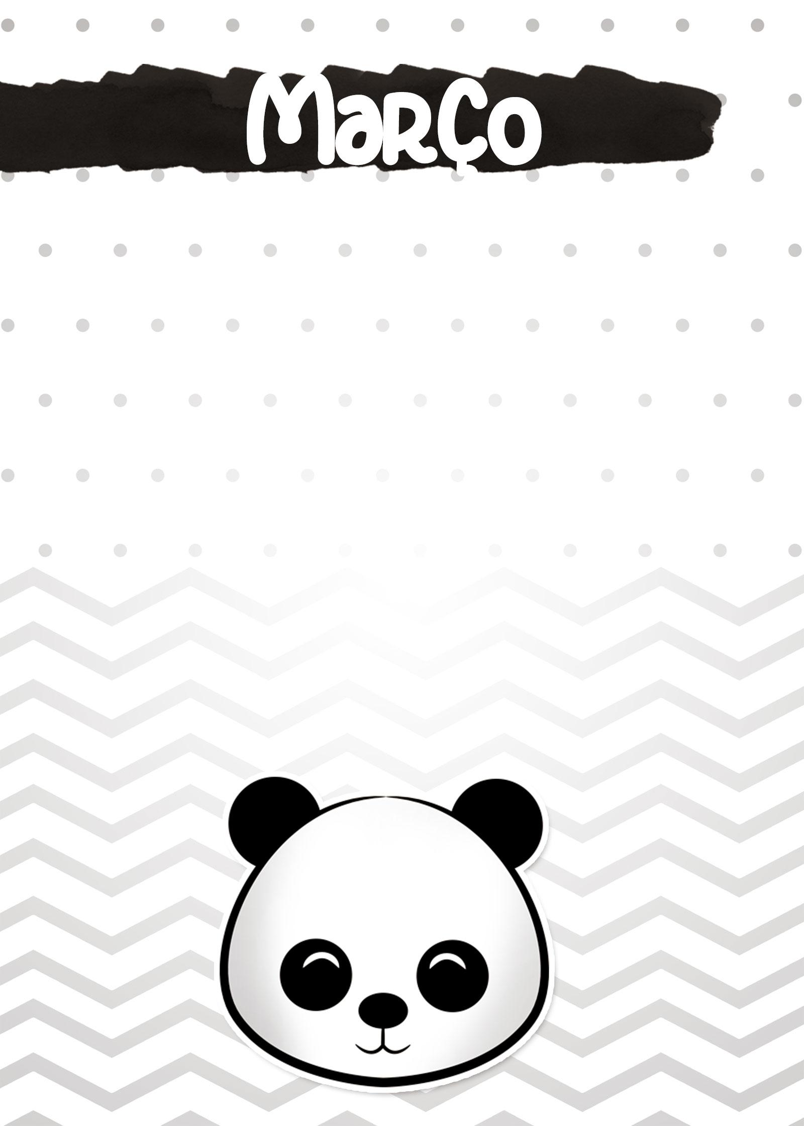 Planners 2020 Panda Menino marco