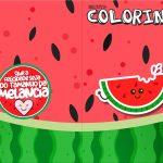 Revista Colorindo Melancia Personalizados para Imprimir