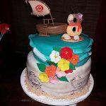 Bolo Festa infantil Moana da Emanuelly