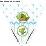 Caixa Piramide Cactos Kit Festa