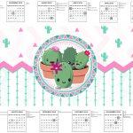 Calendario 2017 Cactos Rosa