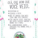 Cartao Agradecimento Quadro Cactos Rosa