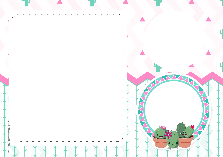 Convite Cactos Rosa 3