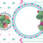 Convite Cactos Rosa 6