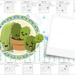 Convite Calendario 2017 Cactos Kit Festa