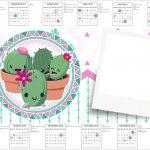 Convite Calendario 2017 Cactos Rosa