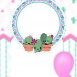 Convite Digital Cactos Rosa 2