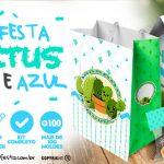 Kit Festa Cactos para Imprimir Grátis para Baixar e Personalizar