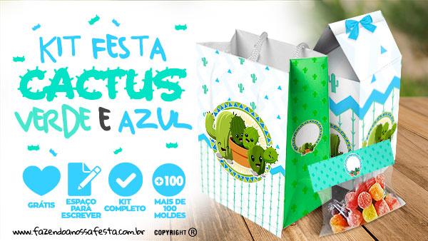 Kit Festa Cactos para Imprimir