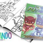 Livrinho para Colorir PJ Masks Grátis para Imprimir