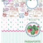 Molde Passaporte Cactos Rosa