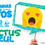 Plaquinhas Cactos Azul Grátis para Baixar e Imprimir em Casa