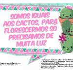 Plaquinhas Cactos Rosa 4