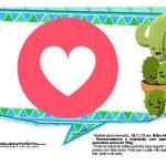 Plaquinhas Emoji para Festa Cactos Azul 28