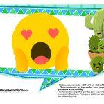 Plaquinhas Emoji para Festa Cactos Azul 29
