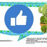 Plaquinhas Emoji para Festa Cactos Azul 31