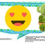 Plaquinhas Emoji para Festa Cactos Azul 32