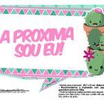 Plaquinhas para festa Cactos Rosa 42