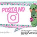 Plaquinhas para festa Cactos Rosa 43