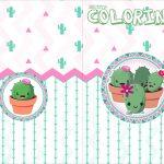 Revista Colorindo Cactos Rosa