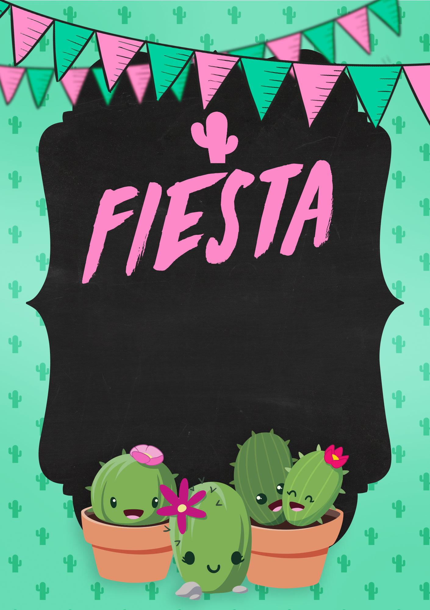 birthday card cactus