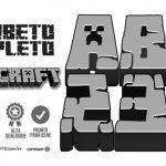 Alfabeto Minecraft – Letras e Números para Imprimir e Personalizar