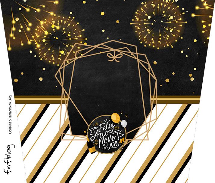 Balde de Pipoca Ano Novo 2019