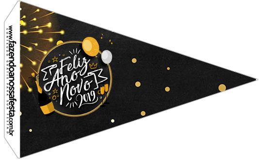 Bandeirinha Sanduiche 2 Ano Novo 2019
