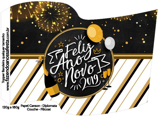 Bandeirinha Varalzinho Ano Novo 2019