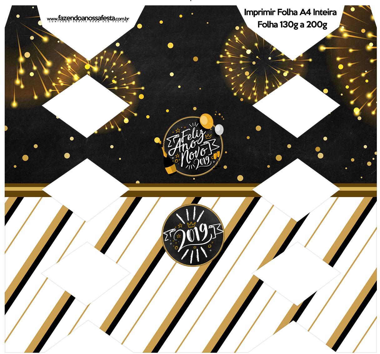 Caixa Bala Ano Novo 2019