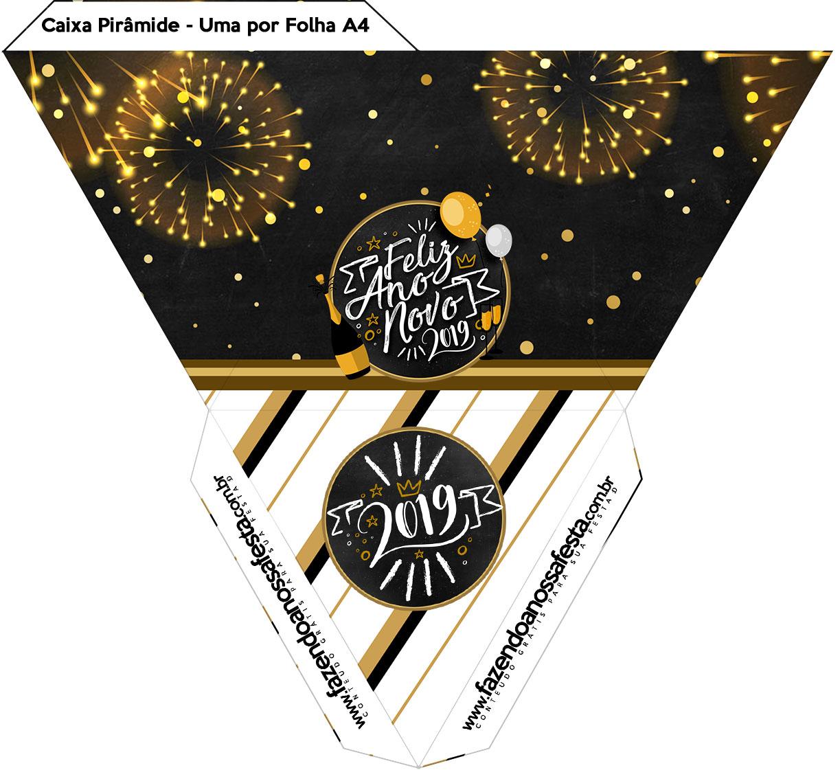 Caixa Piramide Ano Novo 2019