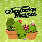 Calendario Mensal Cactos Capa Calendario Mensal