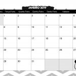 Calendario Mensal Panda fofo Janeiro 2019