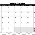 Calendario Mensal Panda fofo Julho 2019