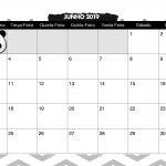 Calendario Mensal Panda fofo Junho 2019