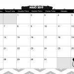 Calendario Mensal Panda fofo Maio 2019