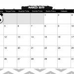 Calendario Mensal Panda fofo Marco 2019