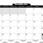 Calendario Mensal Panda fofo Novembro 2019